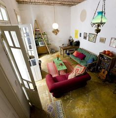 bohemian living room. I want to take this style of living and make it a home.