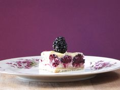 Blackberry-Lemon Cheesecake Bars by @Lisa Flahive-Hermsen- Miss in the Kitchen