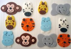 Cupcake toppers http://www.etsy.com/listing/105213751/edible-cupcake-toppers-safari-jungle-zoo
