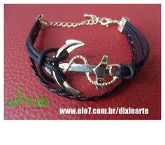 Pulseira Âncora Navy R$ 24,00  www.elo7.com.br/dixiearte