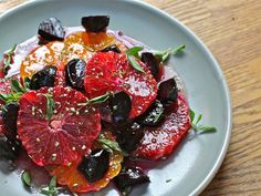 Citrus Salad of Satsumas and Beets with Maple Vinaigrette by The Wimpy Vegetarian