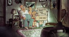 Simpsons couch gag gets French treatment by Sylvain Chomet http://www.examiner.com/article/simpsons-couch-gag-gets-french-treatment-by-sylvain-chomet