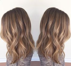 """""""From blonde to bronde! Mallory came in with washed out foil hilites with a 2 inch line of demarcation. I softened the line with a root color and blended…"""""""