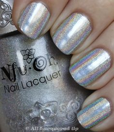 Nfu Oh 61 Can Take On Minx Hologram Nails from All Lacquered Up