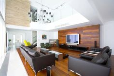 Beautiful Wooden Wall Panels For A Warm Look Of The Living Room