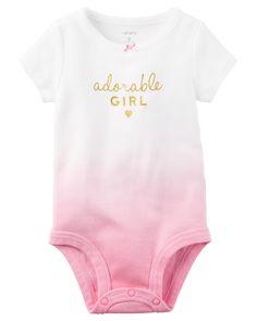 Baby Girl Adorable Girl Collectible Bodysuit | Carters.com
