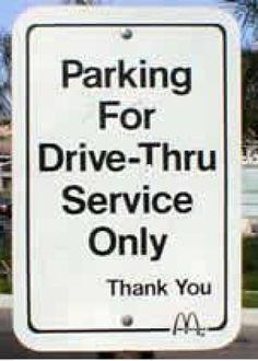 Parking For Drive-Thru