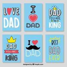 Discover thousands of free-copyright vectors on Freepik Father Poems, Dad Poems, Happy Fathers Day Cards, Fathers Day Crafts, I Love My Dad, Printable Stickers, Free Prints, Journal Cards, Best Dad
