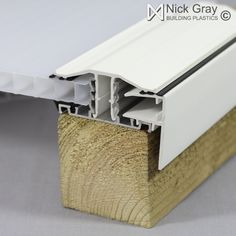 Timber Supported Glazing Bar for 25mm, 32mm and 35mm Polycarbonate White 4 Metres