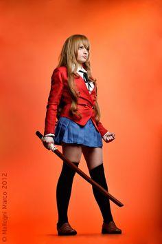 ♡ On Pinterest @ kitkatlovekesha ♡ ♡ Pin: Cosplay ~ Taiga Aisaka from Toradora ♡
