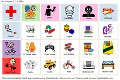 My Choices - Autism Communication Board