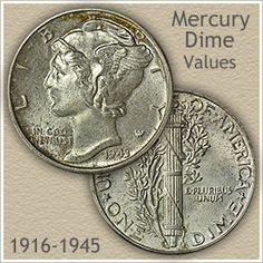 Mercury dime values start at because of silver value and climb upward with rare dates and mintmarks. Discover your coin values on the charts. The post Mercury dime values start at because of silver value and c appeared first on POSPO Investments. Rare Coins Worth Money, Valuable Coins, Silver Value, Value Of Silver Dollars, Silver Dollar Value, Old Coins Value, Silver Eagle Coins, Coin Worth, American Coins