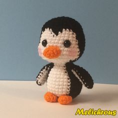 Pepin the Penguin Pattern Crochet Amigurumi PDF by Melichrous
