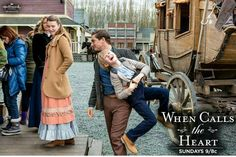 When Calls the Heart S3 - behind the scenes I wish I could do that to cody! I dont really like him lol