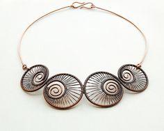 Necklace | Izabella Bako. 'Caramel swirl' Copper