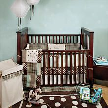 """Mad About Plaid Blue 4 Piece Crib Bedding Set - My Baby Sam - Babies """"R"""" Us - maybe i can add fish accents to make it a fishing nursery??"""