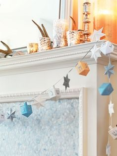 Garlands are an easy way to dress up your home for the holidays. They're also a fun craft for the whole family to do together.    Follow these simple steps to make your own unique holiday garland featuring our paper Dreidels