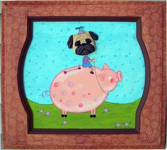 Pug on a Pig by thesnippets, via Flickr