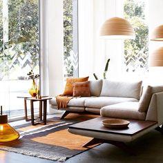 Hepburn Modular Sofa designed by Matthew Hilton and crafted by De La Espada shown at the Spence & Lyda showroom, photo by Prue Ruscoe House Furniture Design, Home Furniture, House Design, Living Area, Living Spaces, Living Rooms, Sofa Design, Interior Design, Modular Sofa