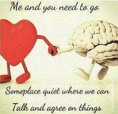 My head plus my heart plus my Spirit