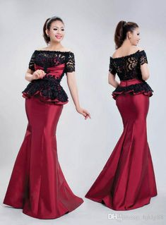 Custom-Made Bateau Short Sleeve Lace Mermaid Evening Dresses Prom Dress Online with $152.58/Piece on Hjklp88's Store