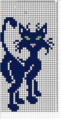 Рукоделие. Творчество. Тётушка.ру Filet Crochet, Crochet Motif, Crochet Patterns, Cross Stitch Charts, Cross Stitch Patterns, Modele Pixel Art, Quilt Square Patterns, Halloween Cross Stitches, Cat Quilt