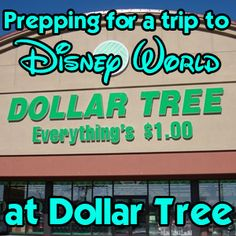 Prepping for a Disney trip at The Dollar Tree - tips for things to buy for your trip like pop-up hampers, glow sticks, ponchos and more