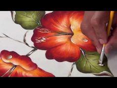 y el profesor Gary Rodriguez nos comparte una linda flor pintada con el arte de la pintura decorativa, la flor de la cucarda, especial para el día de la amistad y el amor.
