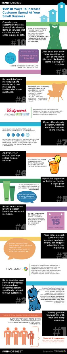 #Infographic - Top 10 Ways To Increase Customer Spend - Small Business Tips