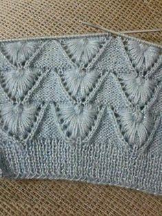 Punto de conchas Spool Knitting, Knitting Stiches, Stitch Book, Craft Patterns, Macrame, Needlework, Knit Sweaters, Knitting And Crocheting, Burlap