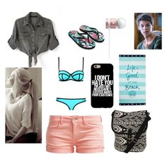 """""""Seeing him at the beach"""" by netflixislife02 on Polyvore featuring Chicnova Fashion, Le Temps Des Cerises, Accessorize, Lexington and Pilot"""