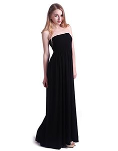 b8d8d798183 HDE Women s Strapless Maxi Dress Plus Size Tube Top Long Skirt Sundress Cover  Up (Small