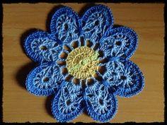 Crochê - Flor 1 - Tutorial - Parte 1 de 2 (Вязание крючком - Flower 1 -...