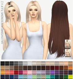 Miss Paraply: POSEIDONSIMS TULIP: SOLIDS & DARK ROOTS • Sims 4 Downloads
