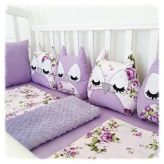 Baby Crib Bumpers, Cot Bumper, Baby Cribs, Quilt Baby, Cute Pillows, Baby Pillows, Sewing Toys, Baby Sewing, Girl Room