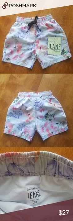 Blush Floral Mini Men/Boys Swim Trunks Brand new with tags. 2T-3T kortni jeane Swim Swim Trunks