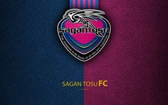 Download wallpapers Sagan Tosu FC, 4k, logo, leather texture, Japanese football club, emblem, J-League, Division 1, football, Tosu, Saga, Japan, Japan Football Championships