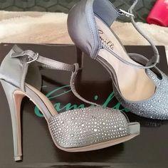 Camille La Vie Heels! Rhinestone T-strap heels brand new only worn once!! Camille La Vie Shoes Heels