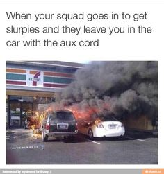 When the squad goes in to get slurries - Daily LOL Pics Best Memes, Dankest Memes, Jokes, Truck Memes, Funny Images, Funny Pictures, Aux Cord, Memes Of The Day, Pictures Of The Week