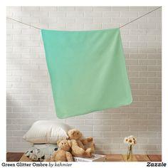 Green Glitter Ombre