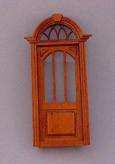 """Majestic Mansions 1"""" Scale Miniature Cambridge Exterior Door"""