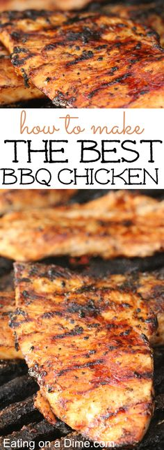 You just have to try this BBQ Chicken recipe. It really is the Best BBQ Chicken Recipe because it is full of flavor and is crazy easy to make. Barbecue Chicken, Grilled Chicken Recipes, Grilled Meat, Chipotle Chicken, Chicken Dips, How To Bbq Chicken, Best Bbq Chicken Marinade, Bbq Marinated Chicken, Bbq Chicken Side Dishes