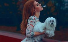 Lana Del Rey / National Anthem - entertainment, music, lana del rey, songwriter, models, cute, beautiful, dogs, smoking, animals, celebrity, singer, people