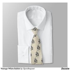 Vintage White Rabbit Tie
