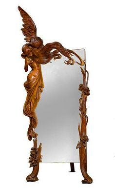 Mirror with Cupid and Psyche, France, ca 1900.