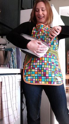 smock-style full apron - perfect for baking and cooking