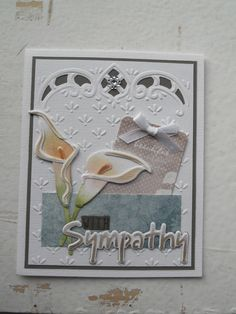 Made by DT member Sigrid. Designable DS0916, Callas Creatable LR0352, With Sympathy Craftable CR1315, Paper pad Flower Garden PK9112, Tags Flower Garden JU0928