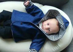 Een baby jeansjasje Baby Car Seats, Children, Kids, Sewing, Young Children, Young Children, Boys, Boys, Dressmaking