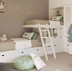 76 Cute Kids Bedroom Furniture Bunk Beds Ideas - About-Ruth Bunk Beds Built In, Cool Bunk Beds, Bunk Beds With Stairs, Kids Bunk Beds, Built In Beds For Kids, Bunk Beds With Storage, Boys Bunk Bed Room Ideas, Small Bunk Beds, Room For Two Kids