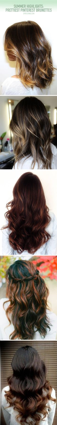 Brunettes | The 15 Prettiest Summer Highlights [ #ombre #sombre #highlights #naturalhighlights #brunette ]